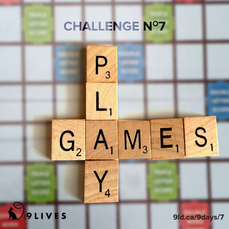 Holiday Spirit Challenge #7: Play Games! View the list of our favourite games and a list of card games at http://www.9livesdesign.ca/design-journal/9days/7 #scrabble #cah