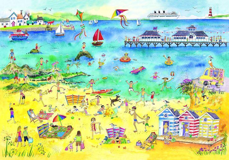 Describing a Beach - Sea - Water - Summer.