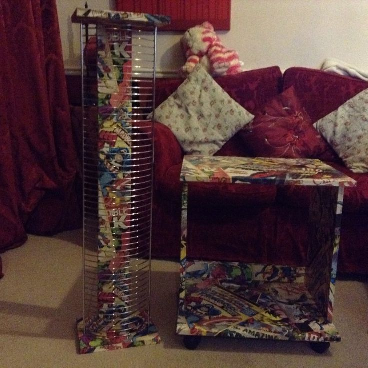 Another triumph...I up-cycled this set using Marvel wallpaper...sold within 15mins.