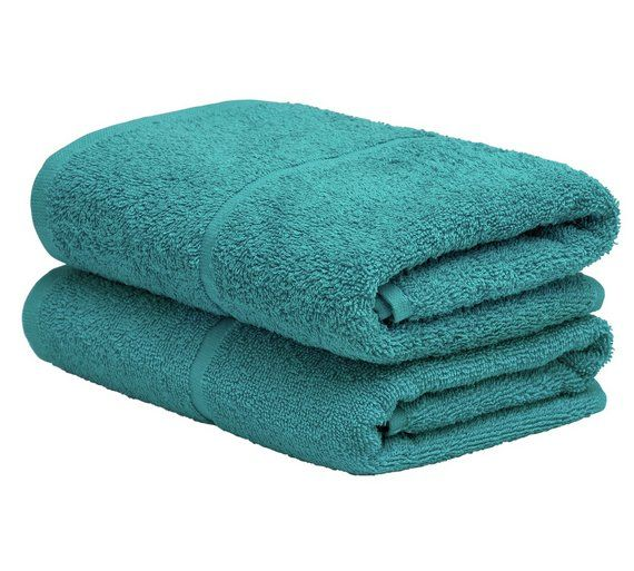 Buy ColourMatch Pair of Hand Towels - Teal at Argos.co.uk, visit Argos.co.uk to shop online for Towels, Bathroom accessories, Home furnishings, Home and garden