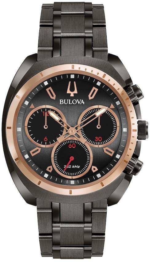 8e43e1bdcf1e Bulova Men s CURV Stainless Steel Chronograph Watch - 98A158