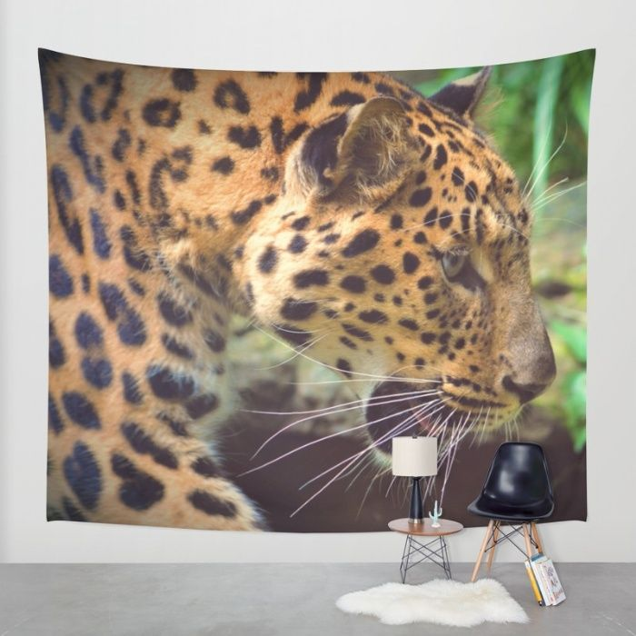 Leopard Wall Tapestry by Mixed Imagery | Society6