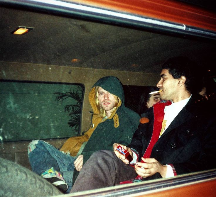 Kurt Cobain & Pat Smear in Philadelphia, PA, US. November 8th, 1993 Photo by Joann Ramses.