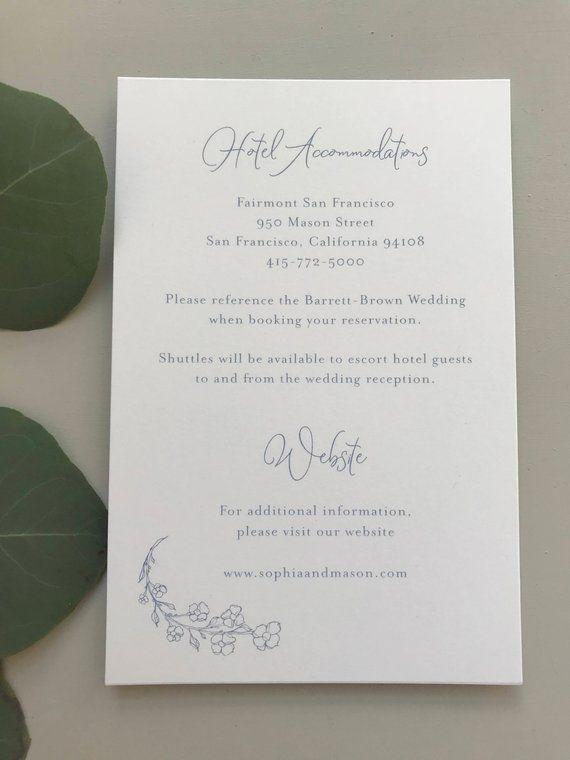 Dusty Blue Floral Wedding Invitation Sample Kit Letterpress