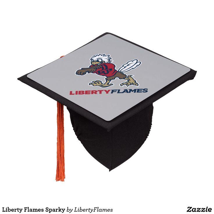 Liberty Flames Sparky Graduation Cap Topper | Zazzle.com