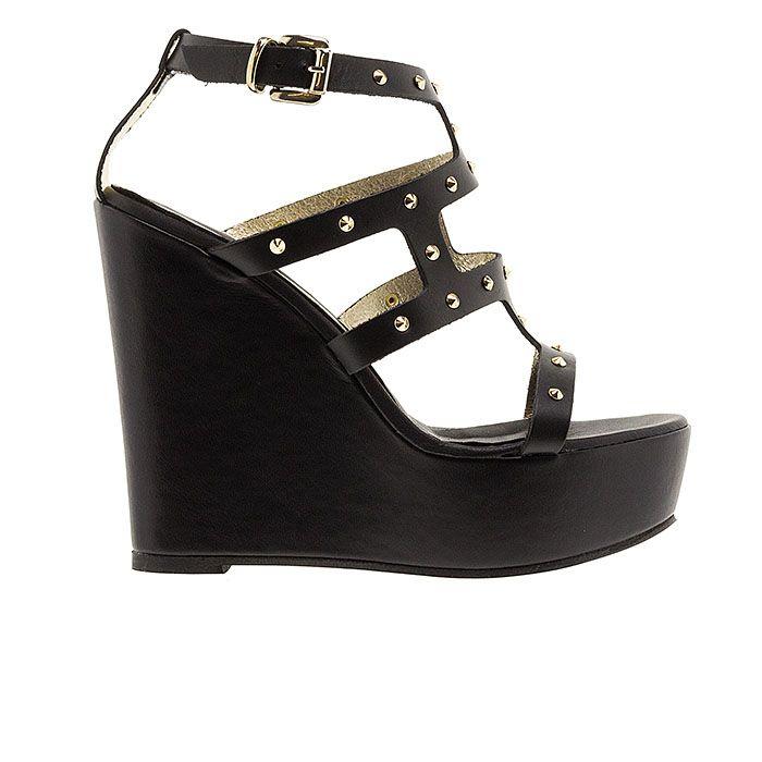 850D01-BLACK LEATHER www.mourtzi.com #wedges#platforms #mourtzi #greekdesigners #blackshoes