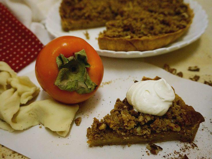 Persimmon Pumpkin Tart with Streusel Top | Suitcase Foodist