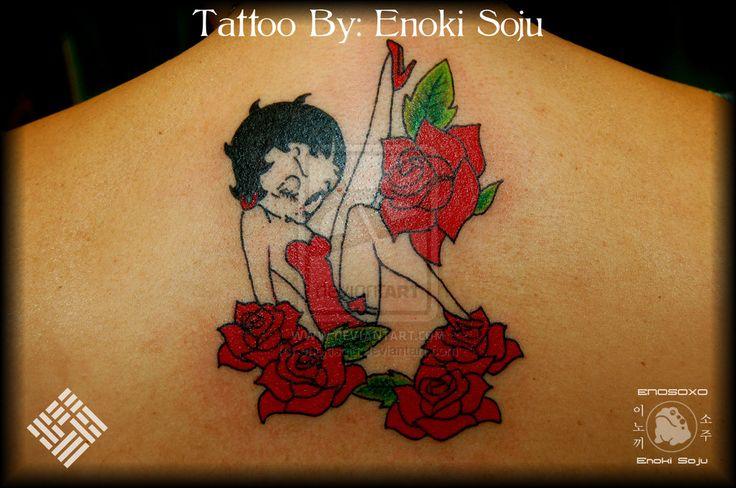 Betty Boop Tattoo By Enoki Soju by enokisoju.deviantart.com on @deviantART
