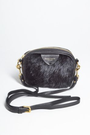 Coolest little black fur clutch/ sling bag by Deadly Ponies.