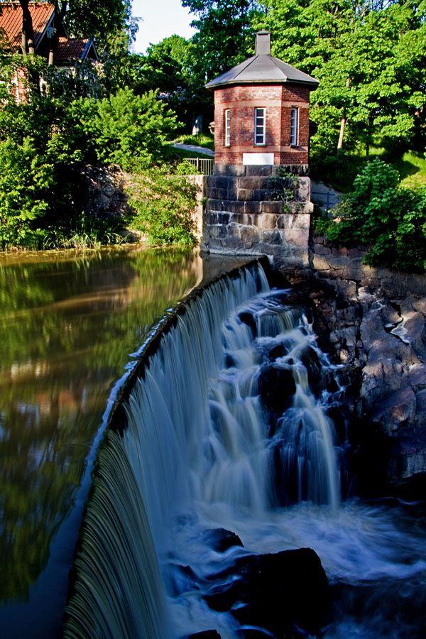 close to our house. vanhankaupunginkosken putous (waterfall) helsinki, finland (tlc)