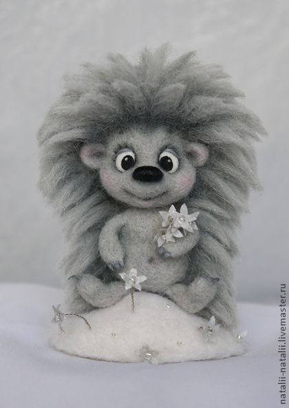 "NATALIE GRAY -- ""Morozovichov Hedgehog"" ($137) --  Guilloche, embroidery, dry felting on the frame.  Handmade."