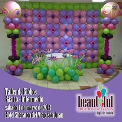 117 Best Balloon Walls Images On Pinterest Balloon