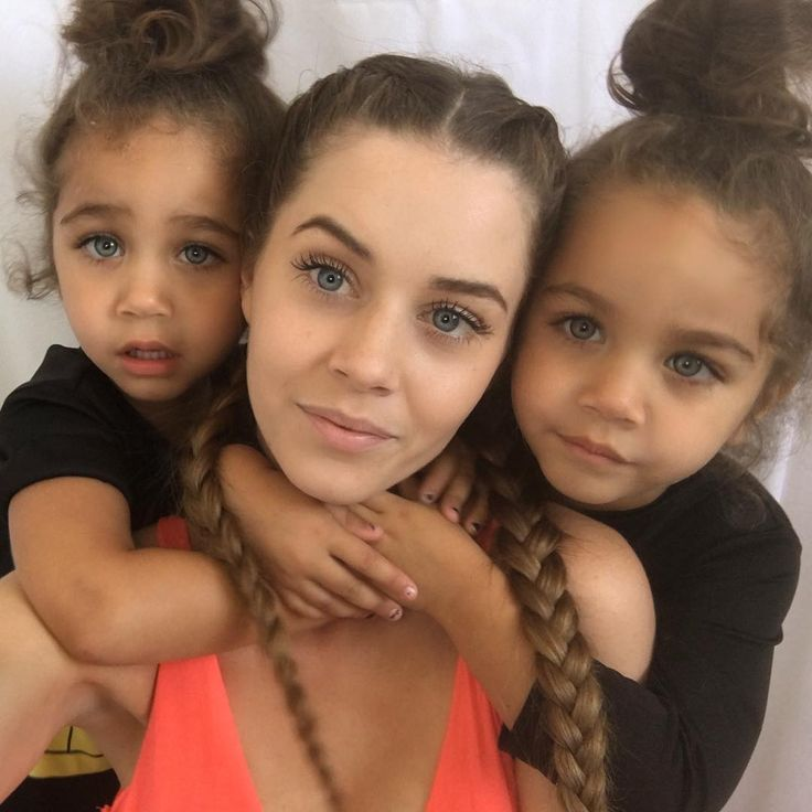 Biracial twins white black and