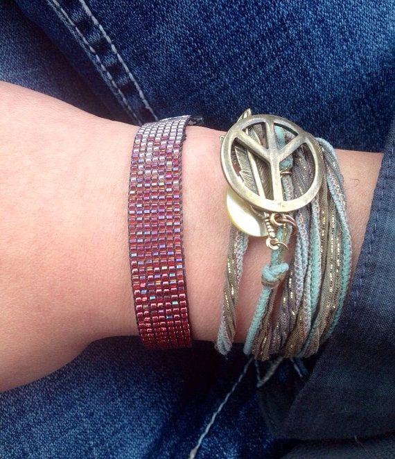 Ombre Beaded Bracelet by WanderlustArtistry on Etsy