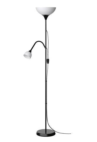 Торшер/лампа для чтения, черный, НУТ, IKEA