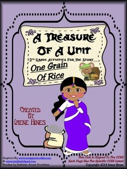 A Treasure Of A Unit For Second Grade : One Grain Of Rice  ~This Unit Is Aligned To The CCSS And Each Page Has The Specific CCSS Listed~  This is a 100 page resource and activity packet  $