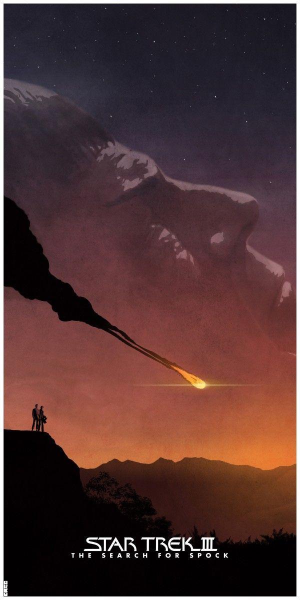 Awesome Poster Art for Original STAR TREKFilms - News - GeekTyrant (Star Trek III: The Search for Spock)