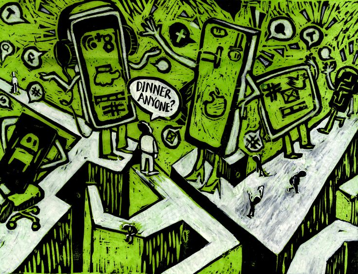 The lost art of communication...the love affair with our mobile phones....