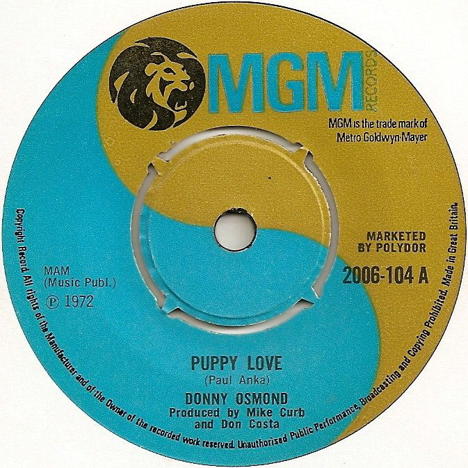 """Loved this 45! I had the biggest crush on Donny Osmond when I was a little girl. I had the chance to meet him when a friend of mine was one of the brothers in """"Joseph"""". He was handsome as ever and very polite. What a wonderful few minutes!"""
