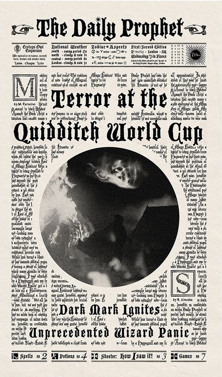 Terror at the Quidditch World Cup. // Who made this, anyone know?