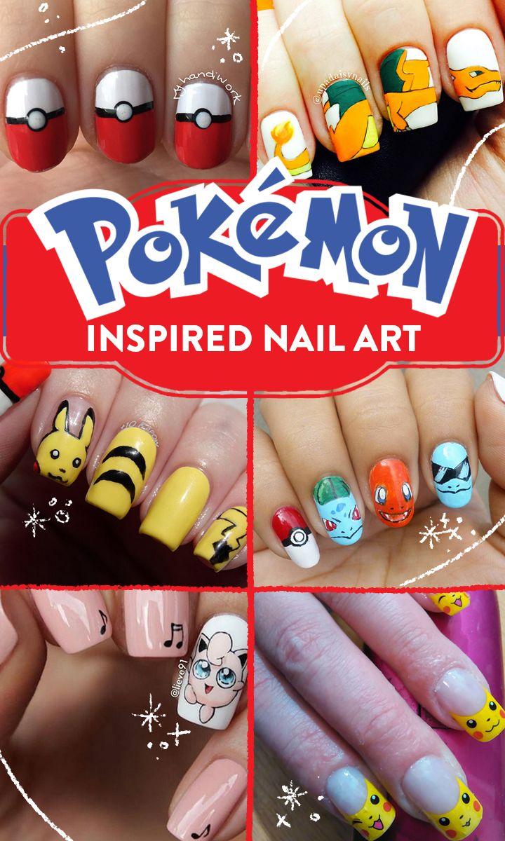 NAILS - POKEMON, PIKACHU - Fabulous Pokemon nail art!