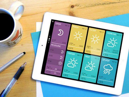 Minimeteo, une application de météo minimaliste pour iPad