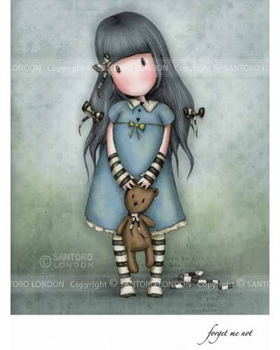 Gorjuss cards - Forget Me Not - Eclectic Selection