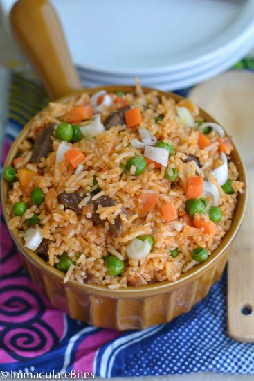 Jellof rice-  African recipe