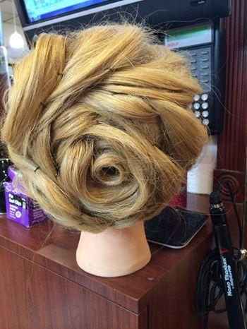 Rose Updo! #hair | Richman Wedding | Pinterest