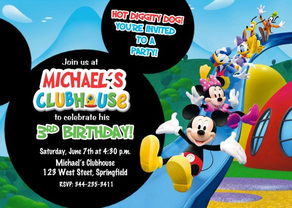 Mickey Mouse Clubhouse Birthday Party by PrettyPaperPixels on Etsy