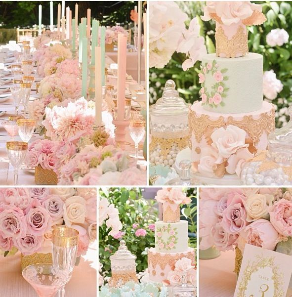 Blush And Gold Wedding Decor: Blush Gold And Teal Decor !!!! Love !!!