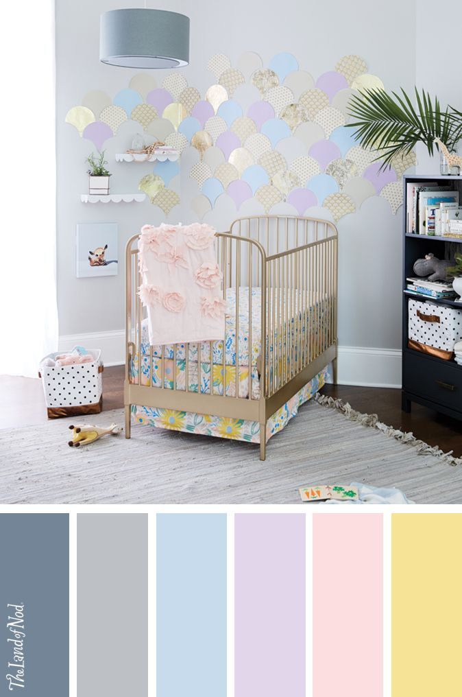 Create a girls nursery with floral bedding, and more.