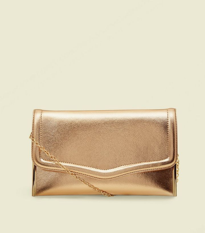 outstanding features new release buying now Rose Gold Flat Clutch Bag | New Look #clutchesnewlook ...