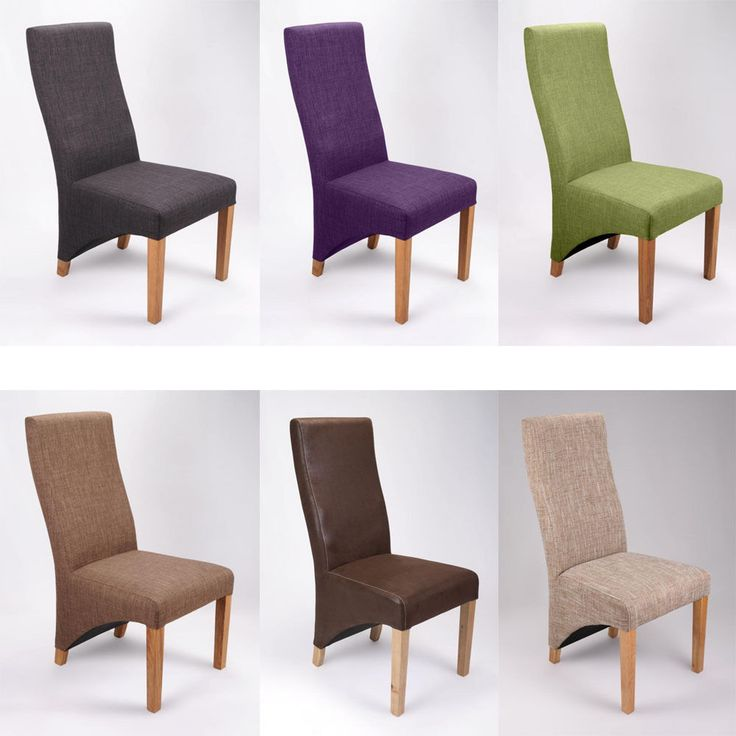Seattle Oak Furniture Fabric Dining Table Chairs Various Colours