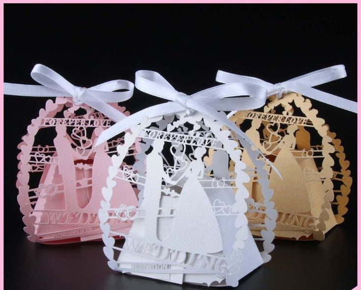 Wedding Gifts From Bride And Groom To Guests : ... Groom Laser Cut Wedding Favor Box Wedding Decoration - Wedding Look