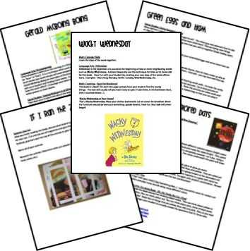 More Dr. Seuss Lesson Plans including  Wacky Wednesday  If I Ran the Zoo  Gerald McBoing Boing  Green Eggs and Ham  My Many Colored Days  Horton Hatches the Egg  The Tooth Book