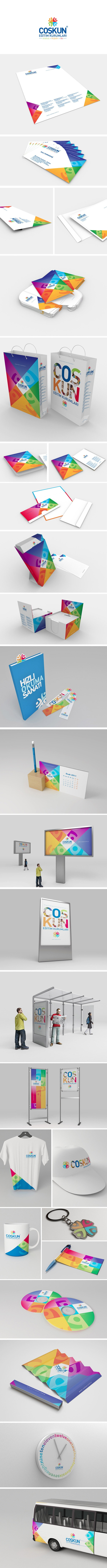 Coskun College / Corporate Identity by yakup akdemir, via Behance