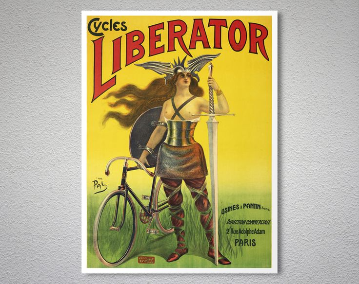 Cycles Liberator  Vintage Bicycle Poster, 1899