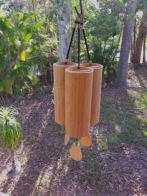 Three of the four Koshi wind chimes tunings hanging together - http://www.thealchemyofsound.com.au/koshi-wind-chimes/