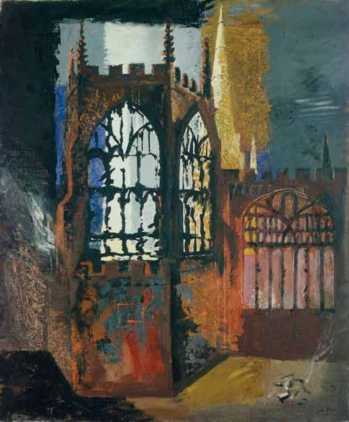 "John Piper's ""Coventry Cathedral"" November 15, 1940"
