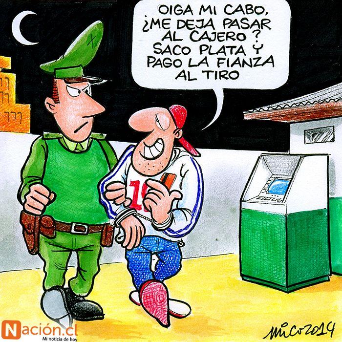 A propósito de poner cajeros automáticos en algunas comisarías, en Chile...