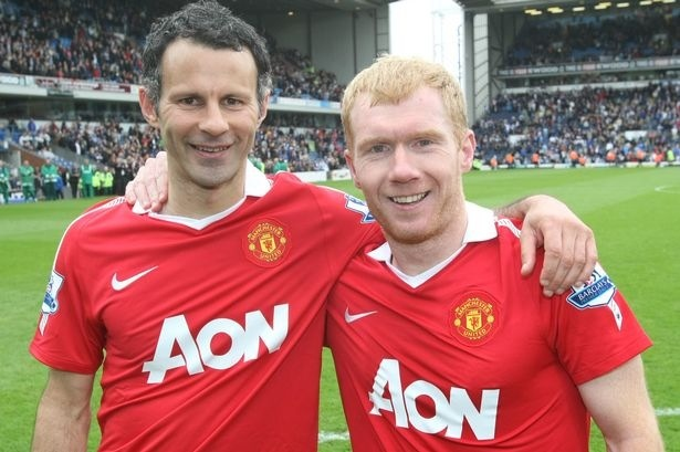 Ryan Giggs and Paul Scholes | Manchester United | Pinterest