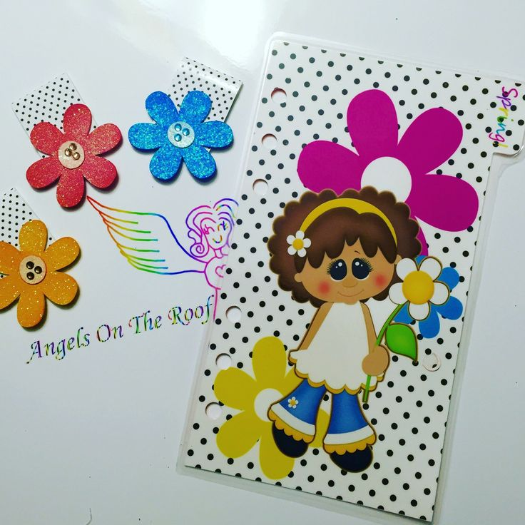 Spring girl Planner insert/divider..fits 6.7 x 3.7 planners