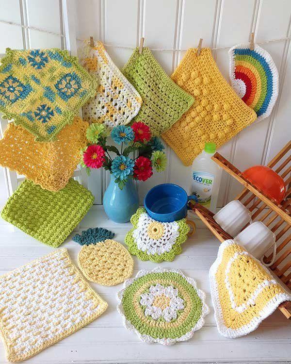 Sunny Days Dishcloths Crochet Pattern – Maggie's Crochet ~ easy to  intermediate ~ CROCHET