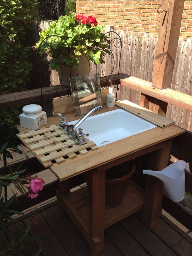 64 best basin blues (outdoor garden sink ideas) images on ... - Patio Sink Ideas
