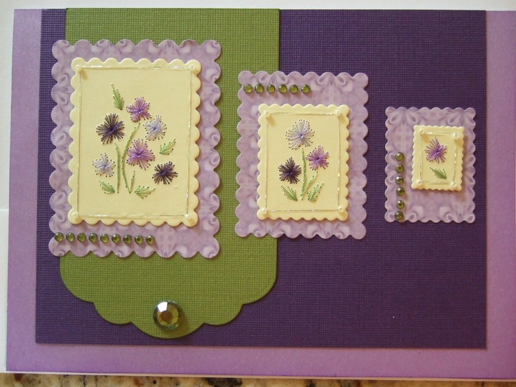 103 Best Stitching Cards Images On Pinterest Paper Embroidery