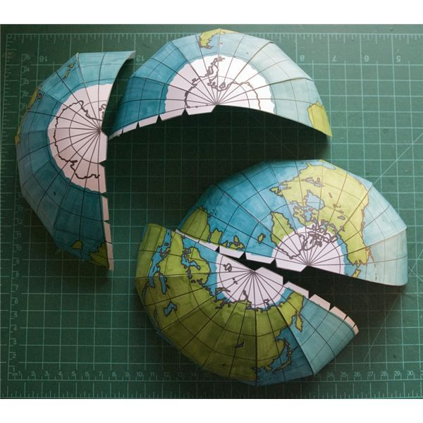 How to Make a Homemade Globe Using Print-and-Assemble Capability