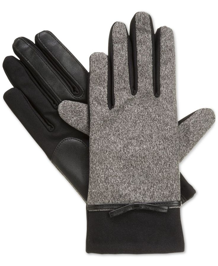 Isotoner Signature Tweed Bow Gloves