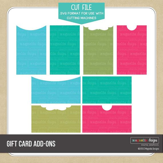 Gift Card Add-Ons .SVG Cut File