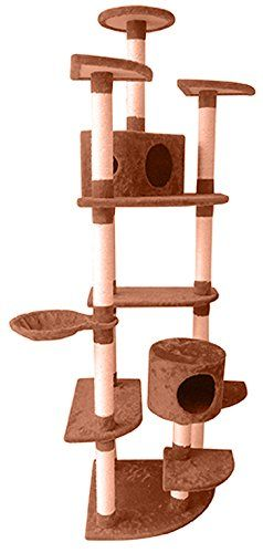 384c4b8561fc Penn Plax 81'' Cat Activity Tree SLS Climate Pocket Deluxe Skyscraper Cat  Condo with multiple levels for perching, scratching, and stretching >>>  Details ...